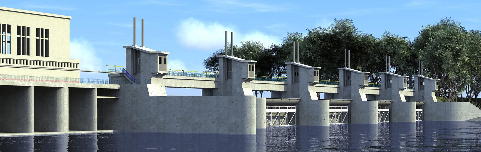 Stopień Brzeg Dolny  – kompleksowe  roboty remontowo-modernizacyjne na stopniu